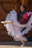 Columbian dancer in traditional costume Stock Images