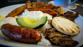 Columbian Meal. Savory Columbian meal Royalty Free Stock Images