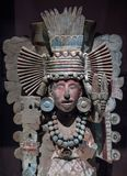 Columbian Mesoamerican kamienna statua Zdjęcie Royalty Free