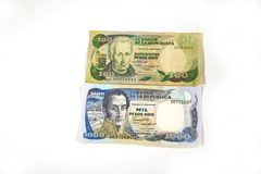 Columbian Pesos. Shot of 1200 Columbian Pesos; paper money stock photos