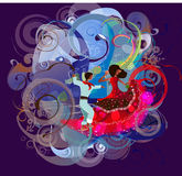 Columbian suknie, moda i taniec Obrazy Royalty Free