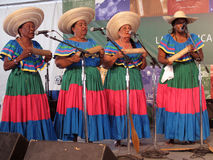 Columbian Women Singing Group Stock Images