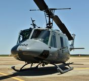 Air Force UH-1N Huey Helicopter. Columbus AFB, Mississippi - April 20, 2018: An Air Force UH-1N Huey helicopter. The UH-1 is used for airlift of emergency Royalty Free Stock Photo