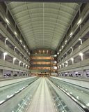 Columbus airport. Parking garage perspective Stock Images
