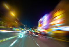 Columbus avenue motion blur Royalty Free Stock Photos