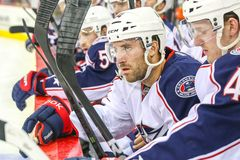 Columbus Blue Jackets center Andrew Joudrey Stock Photo