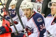 Columbus Blue Jackets center Andrew Joudrey Royalty Free Stock Images
