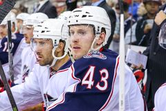 Columbus Blue Jackets center Sean Collins Stock Images