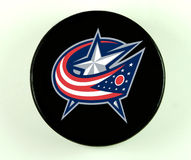 Columbus Blue Jackets hockey puck. Stock Photography