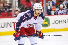 Columbus Blue Jackets left wing Nick Foligno Stock Image