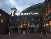 Columbus blue jackets Ohio ice hockey nationwide arena. Getting ready to view my first hockey game at this beautiful and energetic arena royalty free stock image