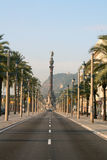 Columbus Boulevard In Barcelona. Royalty Free Stock Image