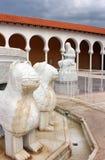 Columbus-Brunnen, Ralli Museum in Caesarea, Israel Stockfotografie