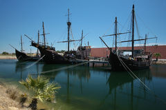 Columbus caravels Royalty-vrije Stock Afbeelding