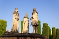 Columbus and the Catholic Kings Royalty Free Stock Images