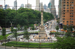 Columbus Circle. View of Columbus Circle in New York from the Mall Royalty Free Stock Photography