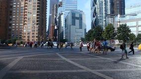 Columbus Circle in Manhattan stock video footage