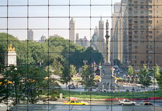 Columbus Circle, Manhattan. New York. Afternoon at Columbus Circle, at 59th Street and Broadway, at the southwest corner of Central Park, New York City. View is royalty free stock photography