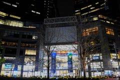 Columbus Circle på natten Fotografering för Bildbyråer