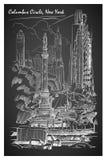 Columbus Circle, quadro-negro Imagem de Stock