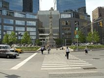 Columbus Circle Spring Royalty Free Stock Images