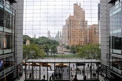 Columbus Circle view from Time Warner Center stock images