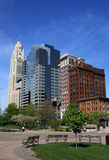 Columbus city skyline Royalty Free Stock Photography
