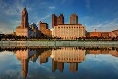Columbus, cityscape van Ohio royalty-vrije stock foto