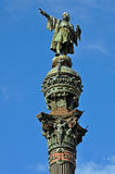 Columbus Column in Barcelona Stock Photo