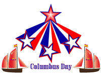 Columbus Day in America Fotografia Stock