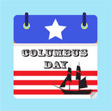 Columbus Day America heureux Images stock