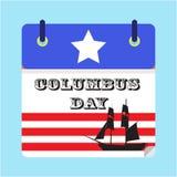 Columbus Day America heureux Illustration de Vecteur