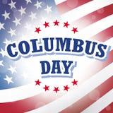Columbus day. American flag background illustration Stock Photos