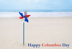 Columbus Day background with decoration Stock Images