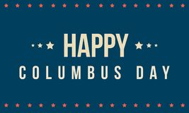 Columbus day on blue background. Vector illustration Royalty Free Stock Image
