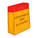 Columbus Day calendar, 12 october icon Royalty Free Stock Images