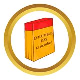 Columbus Day calendar, 12 october vector icon Stock Image