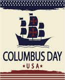 Columbus day. Card or background. vector illustration Stock Images
