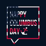 Columbus Day Celebration Banner feliz Fotografía de archivo libre de regalías