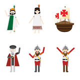 Columbus day characters Stock Photography