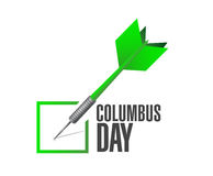 Columbus day check dart illustration design Royalty Free Stock Image