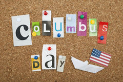 Columbus Day. Concept with American Flag Royalty Free Stock Photo