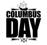 Columbus Day Design Stock Photography