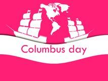 Columbus Day, el descubridor de América, como consecuencia de la nave Fotografía de archivo libre de regalías