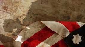 Columbus Day. Flag On Wood. Columbus Day. Usa Flag On Wood Stock Photo
