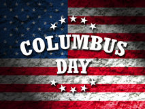 Columbus day. Greeting card american flag grunge background Stock Photography