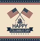 Columbus day. Happy Columbus day card or background. vector illustration Stock Images