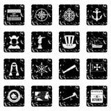 Columbus Day icons set, simple style Stock Photo