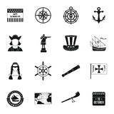 Columbus Day icons set, simple style Stock Image