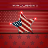 columbus day illustration card design eps 10  Stock Images
